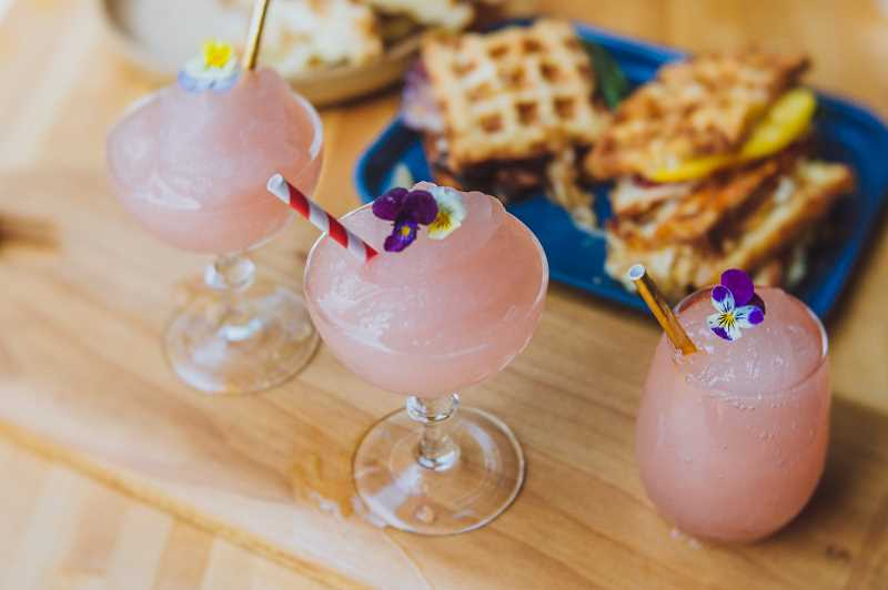 PHOTO BY JOSHUA CHANG - The frose, or frozen rose slushie, is his summer's smash hit. Expect Sugarpine's food and drink to be tasty, fresh, playful and beautiful.