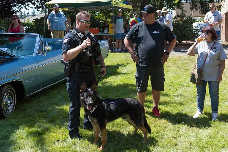 STAFF PHOTO: CHRISTOPHER OERTELL - Rocket, a German shepherd puppy, is the newest K-9 with the Hillsboro Police Department. The dog will undergo months of training before hitting the streets next year.