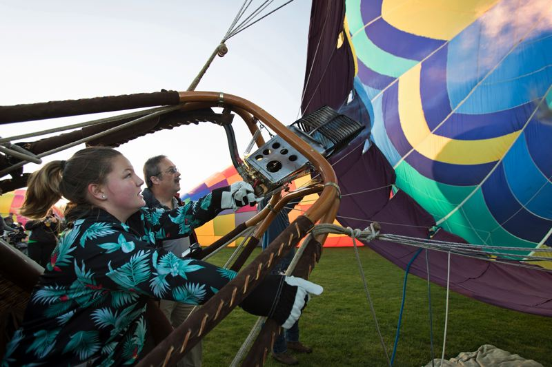 TIMES PHOTO: JAIME VALDEZ - Photos from this year's Tigard Festival of Balloons were among the honorees at the Oregon Newspaper Awards ceremony. The Times took home the first-place plaque for general excellence.