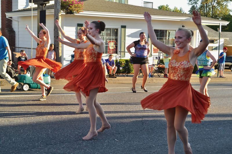 SANDY POST: BRITTANY ALLEN - Dancers make the way along Pioneer Boulevard during the 2018 Sandy Mountain Festival Parade.