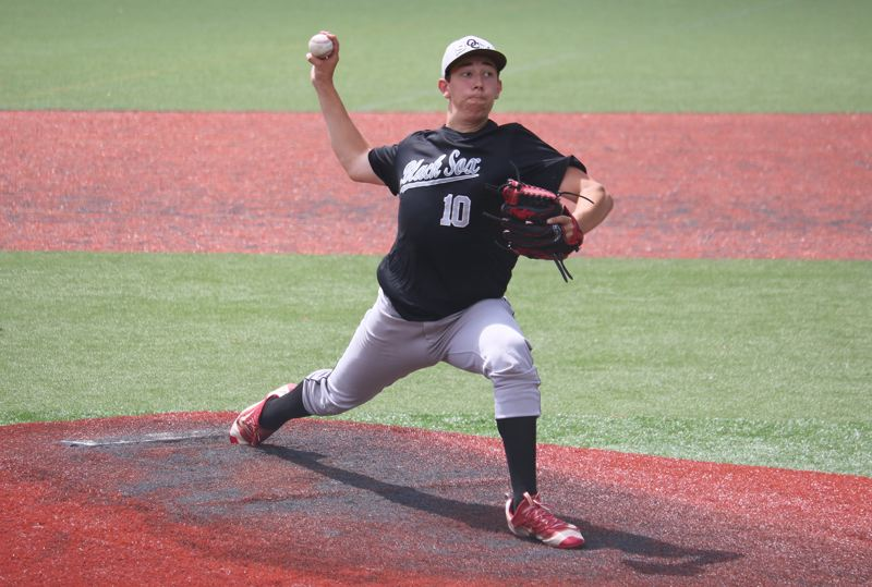 PAMPLIN MEDIA: JIM BESEDA - Oregon City's Christian Mansfield is expected to help anchor the Pioneers' pitching rotation as they prepare to return to the Three Rivers League next spring.