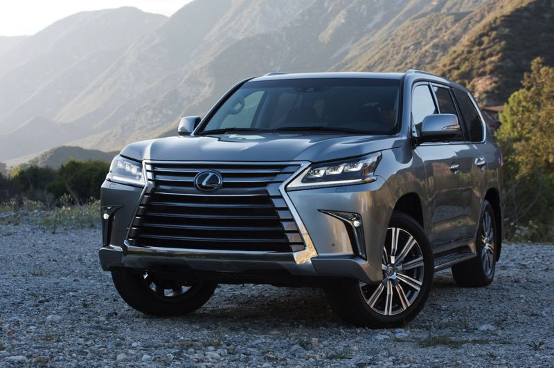 COURTESY TOYOTA MOTOR SALES - The 2018 Lexus LX 750 is big, bold and based on the legendary Toyota Land Cruiser, which makes it very camapble off road, too.