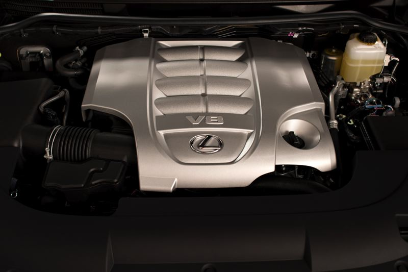 COURTESY TOYOTA MOTOR SALES - The powerful 5.7-liter V8 at the heart of the 2018 Lexus LX 750.