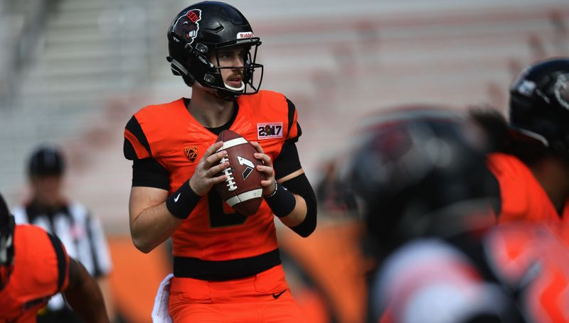 COURTESY: SCOBEL WIGGINS - Back after suffering a thoracic spine fracture in a game last September, Jake Luton will vie for the starting quarterback job at Oregon State.