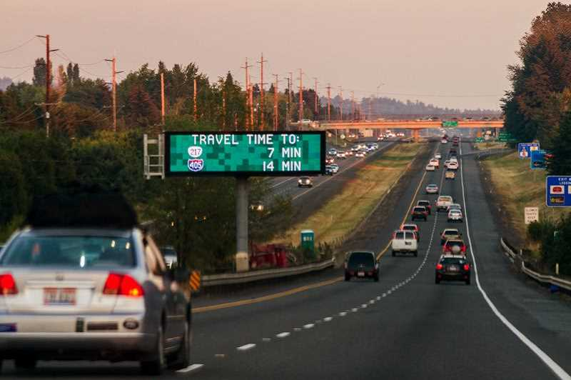STAFF FILE PHOTO  - Highway 26 is one of several Portland area highways being considered for tolls under a plan by the Oregon Department of Transportation. The Oregon Legislature says Portland area congestion is a statewide problem that tolls can help fix.