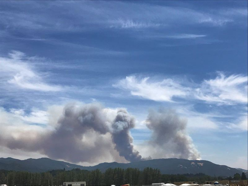 PHOTO COURTESY OF THE OREGON STATE FIRE MARSHAL'S OFFICE - Oregon firefighting crews were dispatched to help fight a blaze in Mendocino County, California over the weekend. The fire complex, which is made up by two fires, has burned a total of 55,000 acres as of Monday, July 30.