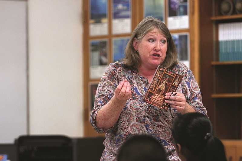 PHIL HAWKINS - Gervais Elementary School teacher Lisa Ludwikoski was named 2018 Oregon Substitute Teacher of the Year after filling in as a long-term substitute kindergarten teacher last year. A longtime substitute at Gervais and throughout the central Willamette Valley, Ludwikoski was hired full time at the end of the 2017-18 school year and will teach fourth grade at Gervais Elementary this fall.