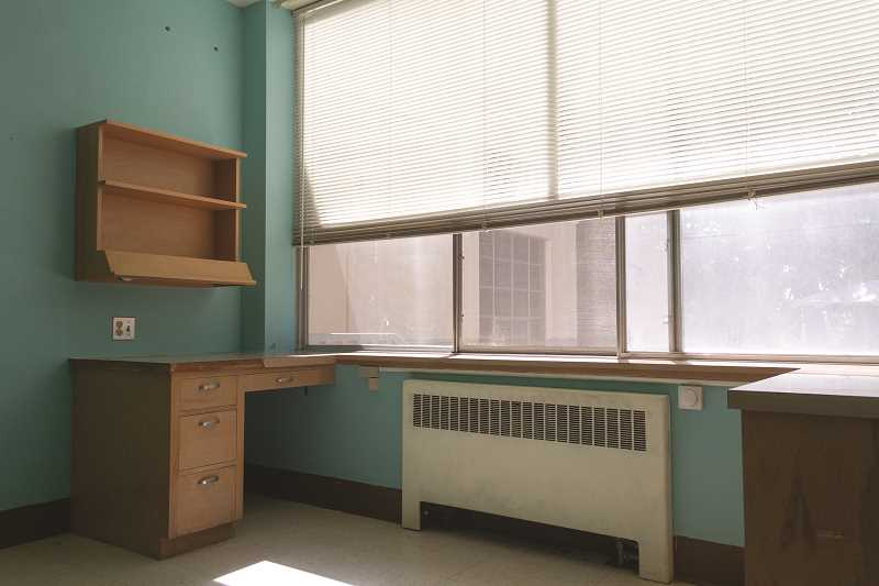 PATRICK EVANS - The rooms at St. Joseph Shelter are converted from college dorms. They might be a bit cramped but a private sleeping space makes a big difference to families who have been living in cars or on the street, said Catholic Community Services executive director Jim Seymour.
