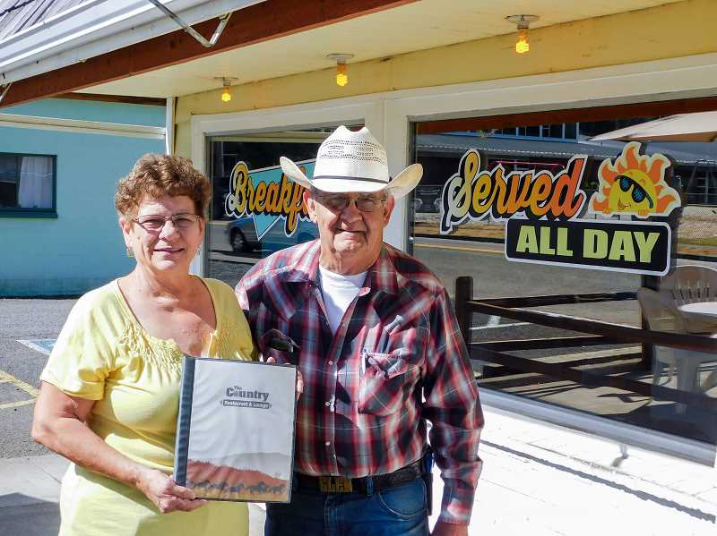 FILE PHOTO - Linda and Glen Parsons are celebrating 39 years with their Estacada business, The Country Restaurant and Lounge.