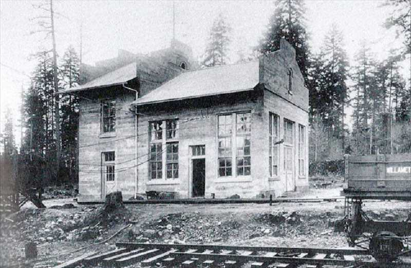 PHOTO OFFBEAT OREGON - (INSET) The Tonquin train station at it appeard shortly before opening in 1908.