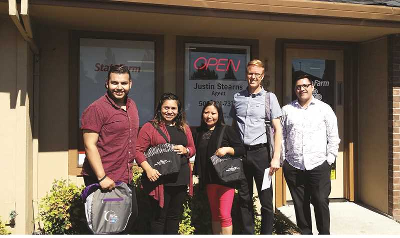 COURTESY PHOTO: DON JUDSON - The winning team, 'Good Neighbors' from Justin Stearns State Farm Agency, included (from left) Jovani Natividad Canseco, Carina Mendoza Camarena, Gricelda Giron and Justin Stearns.