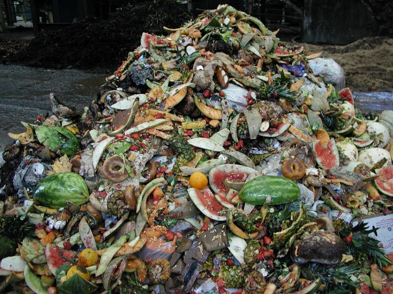 COURTESY: METRO  - Rotting food piles up at a garbage transfer center. Under a newly passed Metro ordinance, food scraps from large businesses must be collected separately, by 2020, enabling a pending project to convert the waste into energy.