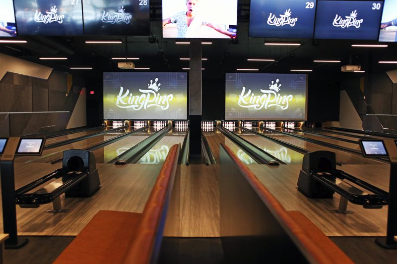 TIMES PHOTO: JESSIE DARLAND - Bowling lanes at the new KingPins Family Entertainment Center are ready for use.