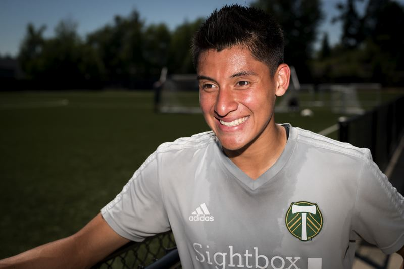PAMPLIN MEDIA GROUP PHOTO: JAIME VALDEZ - Portland Timbers defender Marco Farfan, who grew up in Gresham, said teams like Cuervos FC give Latino youths a chance to play in a league with more support — and more attention to safety.