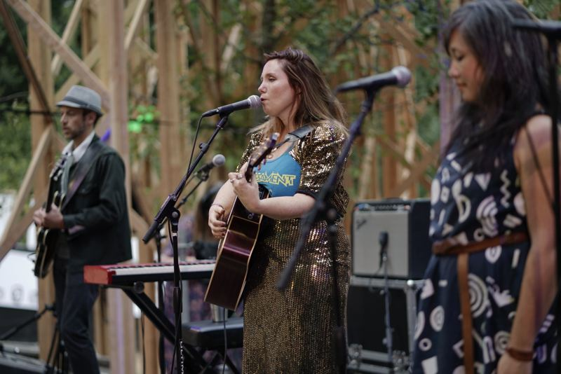 PAMPLIN MEDIA GROUP: KIT MACAVOY - Opening acts performed Thursday, Aug. 2, as Happy Valley's Pickathon began in cool weather.