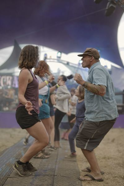 PAMPLIN MEDIA GROUP: KIT MACAVOY - Hot music urged dancers during the first day of Pickathon in Happy Valley.