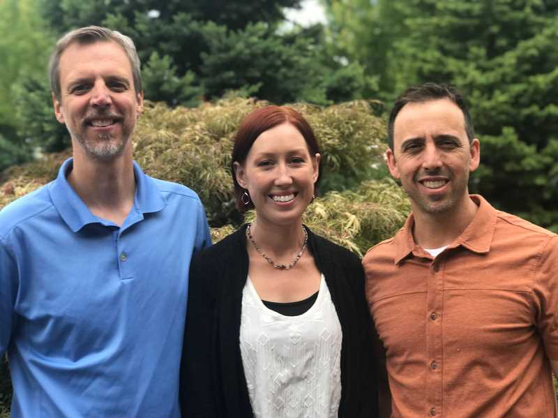 COURTESY: EVOLVE PHYSICAL THERAPY - Matt Weissbach, Brittany Abeyta and Matt Whitaker make up the staff of Evolve Physical Therapy.