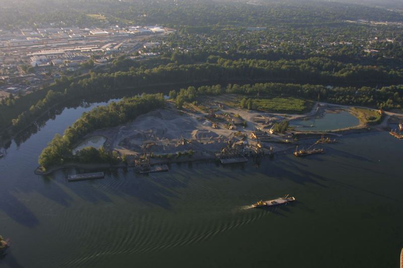 FILE PHOTO  - Aerial view of past operations at Ross Island, back in 2003