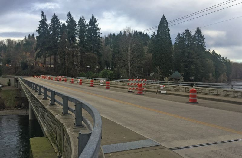 PAMPLIN MEDIA GROUP 2018 FILE PHOTO - Because of the impact of tariffs on aluminum and other metals, an order of signal poles for the Highway 224/Springwater Road intersection near the Carver Bridge is not expected to arrive until the fall.