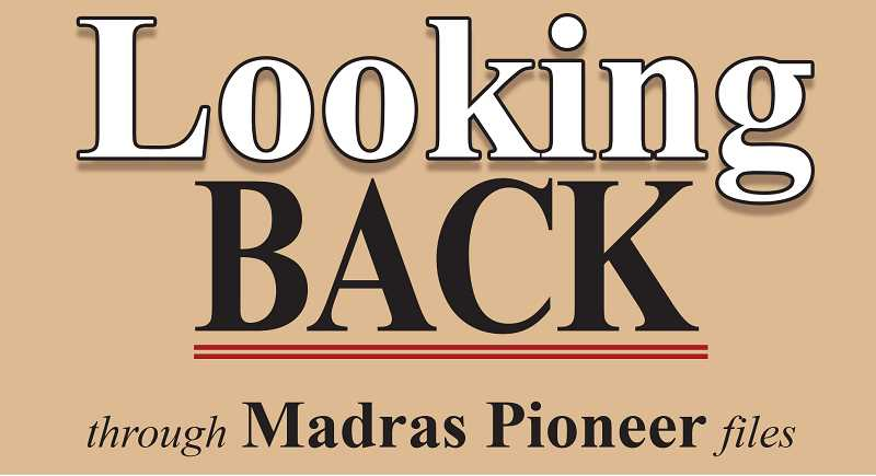MADRAS PIONEER LOGO - The Madras Pioneer looks back through the past 100 years of Jefferson County history.