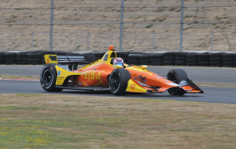 PORTLAND TRIBUNE: JEFF ZURSCHMEIDE - The goal of the test day was to familiarize driver Zach Veach with the Portland race track and to find the optimum settings for the car.