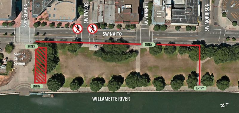 PPB PHOTO - Police released this map of the fenced area.