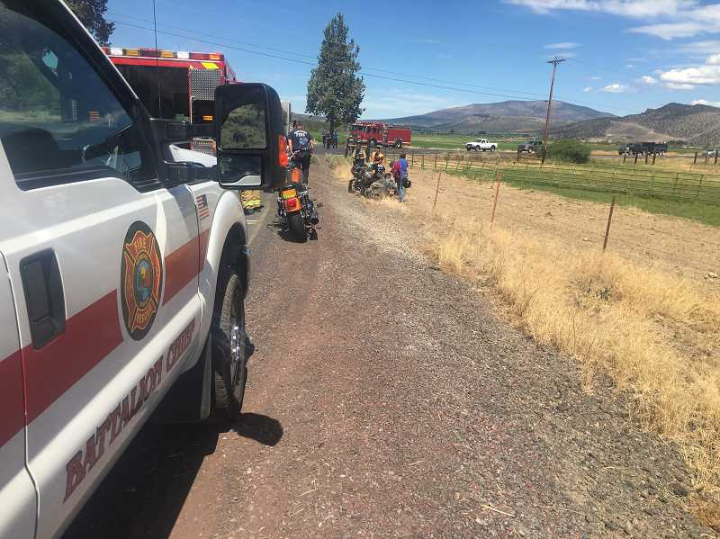 CROOK COUNTY SHERIFF'S OFFICE - A Powell Butte man was injured in a motorcycle crash Saturday afternoon.