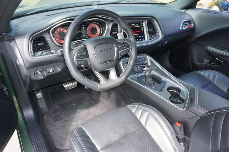 PORTLAND TRIBUNE: JEFF ZURSCHMEIDE - Despite the retro styling, the new Challenger Hellcat can be outfitted with all the latest automotive technologies, including a fully modern touchscreen infotainment system.