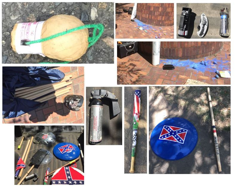 PPB PHOTO - Portland Police said they confiscated these items on Saturday, July 4.