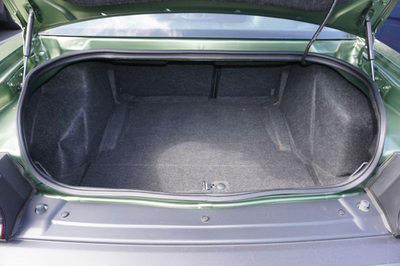 PORTLAND TRIBUNE: JEFF ZURSCHMEIDE - The Dodge Challenger trunk is large enough for weekend trips for small families.