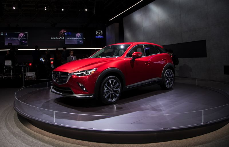 MAZDA NORTH AMERICA - Mazda unveiled the 2019 CX-3 at the 2018 New York Auto Show. With only a few small changes, it is still a sharply styled saffordable ubcompact crossover that is widely considered  the best on the market.