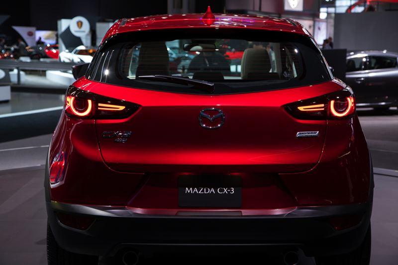 MAZDA NORTH AMERICA - The redesigned rear tail lights are probably the more apparent of the minor exterior changes to the 2019 Mazda CX-3.