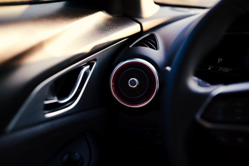 MAZDA NORTH AMERICA - Color-coded trim around the ventilation vents are among the smallest changes in the 2019 Mazda CX-3.
