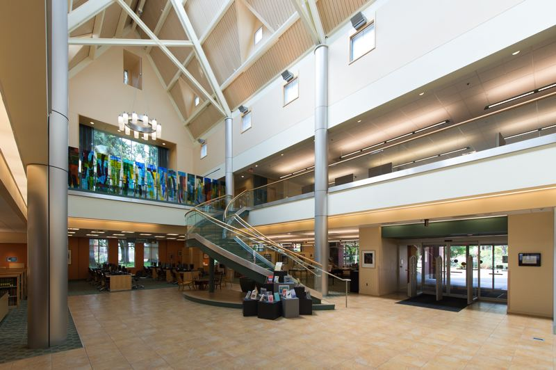 STAFF PHOTO: CHRISTOPHER OERTELL - The Tim and Cathy Tran Library is only about 10 years old, but Pacific University has already greenlighted some changes for the building, including a tutoring area and several renovations upstairs.
