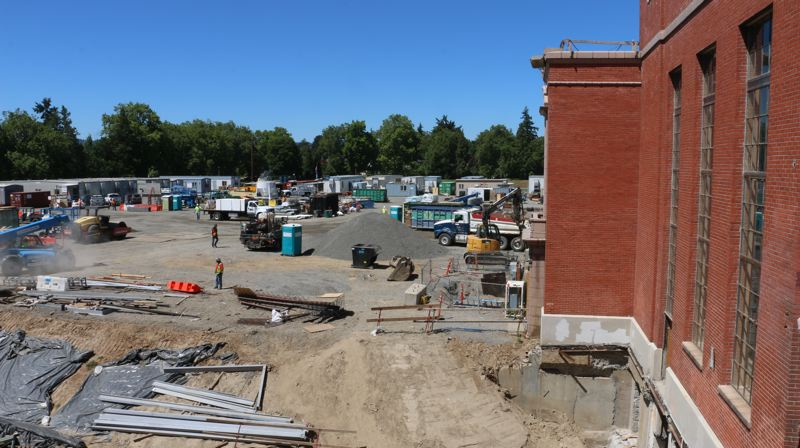 COURTESY: PORTLAND PUBLIC SCHOOLS - Grant High School in Northeast Portland is currently being rebuilt with 2012 bond funds. The costs of Madison, Lincoln and Benson high schools' remodels are higher than the campaign told voters they would be.