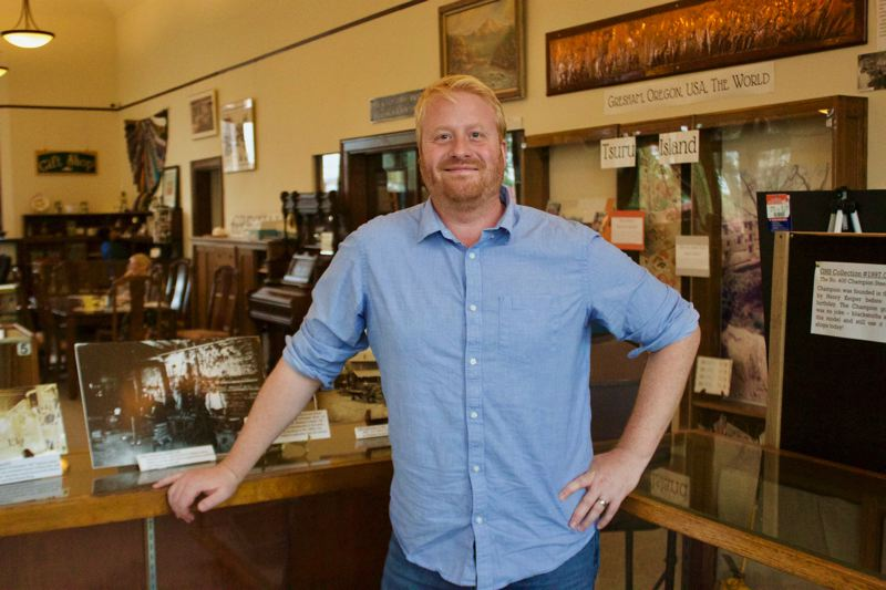 OUTLOOK PHOTO: CHRISTOPHER KEIZUR - Outgoing Gresham History Museum Director Matt Holland was drawn to the business because of his love for solving mysteries of the past.