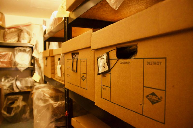 OUTLOOK PHOTO: CHRISTOPHER KEIZUR - Storage is an issue for the Gresham Historical Society, which operates admirably on a shoestring budget.