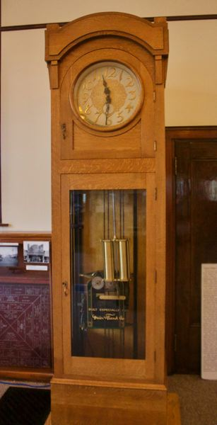 OUTLOOK PHOTO: CHRISTOPHER KEIZUR - The clock in the Gresham History Museum was made for the Meier & Frank department stores in downtown Portland.