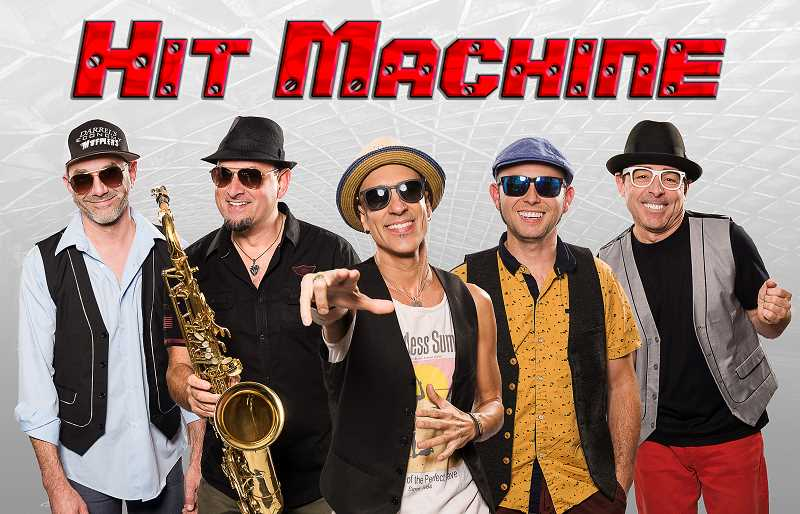 SUBMITTED PHOTO - Popular local band Hit Machine shows up for Concert in the Park on Wednesday.