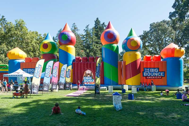 STAFF PHOTO: CHRISTOPHER OERTELL - Big Bounce America is the world's largest bounce house, according to Guinness World Records.
