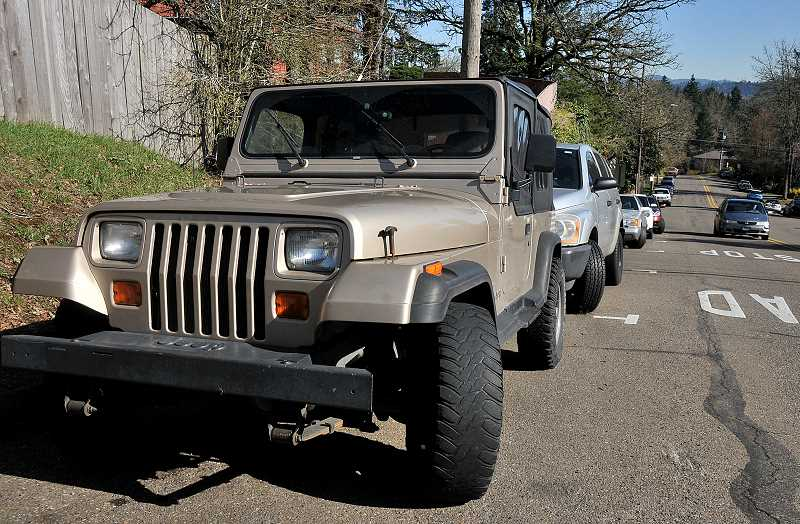 TIDINGS FILE PHOTO - The council opted not to take action on a 'compromise' resolution that would have opened up some streets for student parking near West Linn High School.
