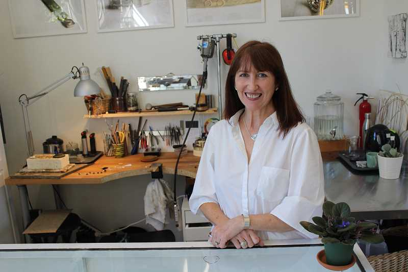 CONNECTION PHOTO: COREY BUCHANAN - Hillsdale resident Holly Hestand opened her shop Magpie Metals in June.