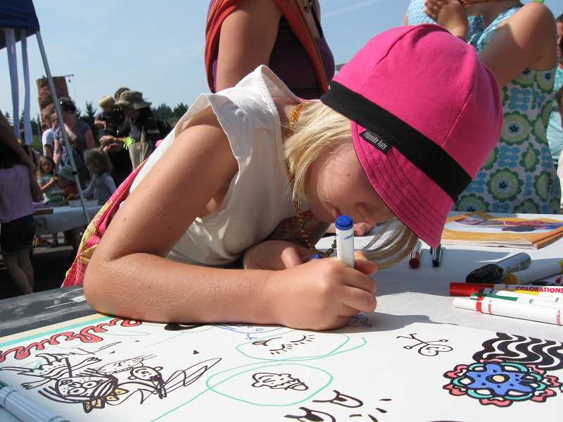CONNECTION FILE PHOTO - Kids will have a chance to draw and perform myriad art projects at the Kids Zone from 9 a.m.-4 p.m. on Multnomah Days.