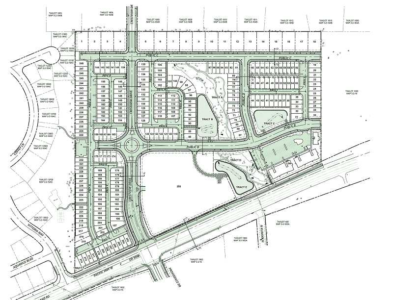 SCHEMATIC COURTESY OF CITY OF NEWBERG - Plans for the Crestview Crossing development called for a mix of residential and commercial uses.