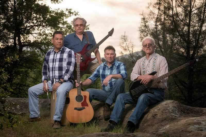 CONTRIBUTED PHOTO: BRUCE WEBB - John Hoover and the Mighty Quinns is James Maltos, Bruce Webb, John Hoover and Dick Sorensen. The group will perform at The Mason Jar Cafe on Saturday, Aug. 18.