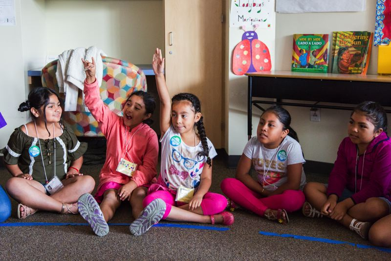 COURTESY PHOTO: GIRL SCOUTS OF OREGON AND SW WASHINGTON - Girl Scouts of Oregon and Southwest Washington offered a two-week program called Puentes during the Hillsboro School District's summer school program.