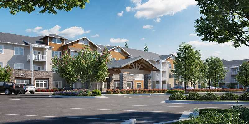 COURTESY: THE SPRINGS LIVING - An artist's rendering of what the new addition to The Springs Living at Sherwood will look like.