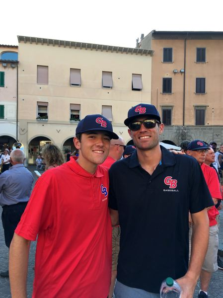 PHOTO COURTESY OF KREISBERG FAMILY - Tigards Lance Kreisberg (left) was a player, and Spencer Kreisberg was a coach for the the Great Britain team that played in the 2018 European Championships.