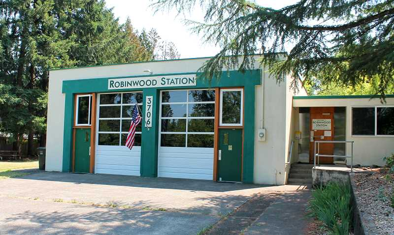 TIDINGS PHOTO: PATRICK MALEE - The Friends of Robinwood Station (FORS) continue to make improvements at the old fire hall, but still need to finalize a use agreement with the City.