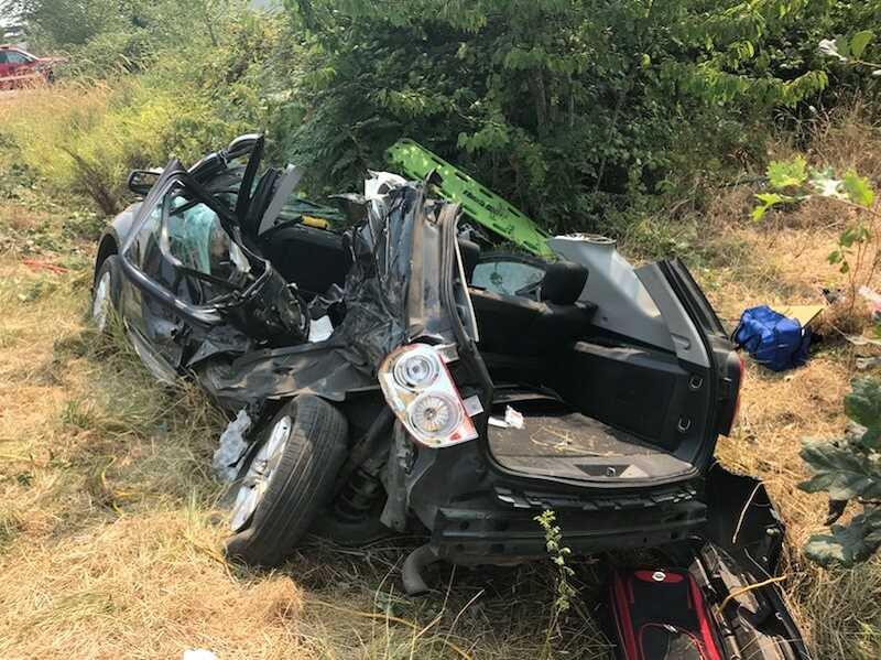 COURTESY: MCSO - All six occupants of an SUV that was t-boned on Wednesday were sent to the hospital with injuries.